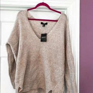 trendy beige F21 sweater